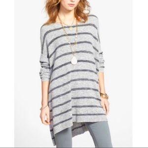 FREE PEOPLE Striped Oversized Knit Tunic Sweater S